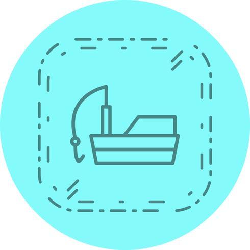 Vissersboot pictogram ontwerp vector