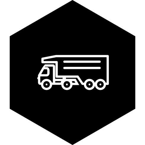 Diseño de icono de camión volquete