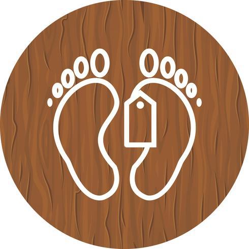 Etiqueta del dedo del pie icono de diseño vector