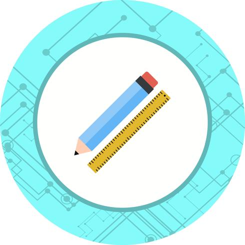 Pencil & Ruler Icon Design