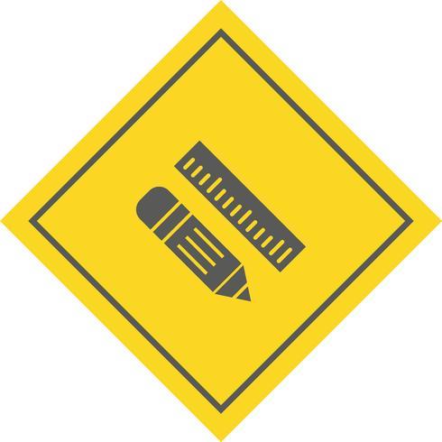 Bleistift & Lineal Icon Design