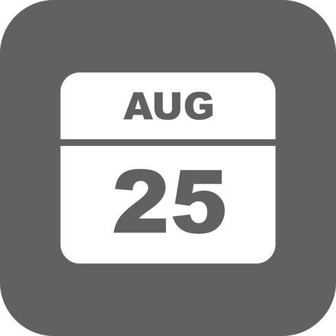 25 août Calendrier d'une journée