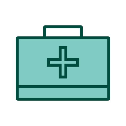 First Aid Box Icon Design vector