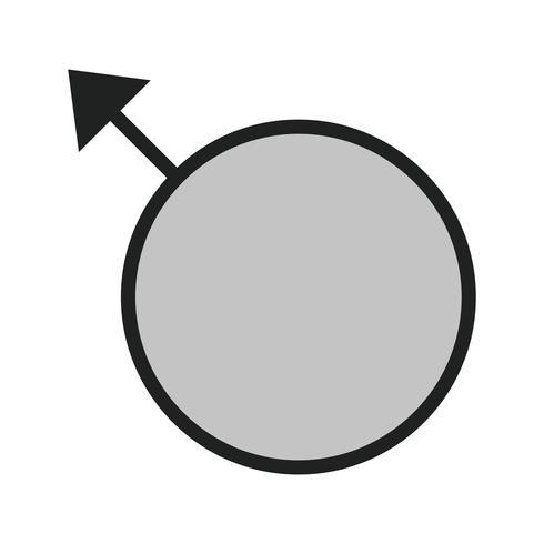 Diseño de icono masculino vector