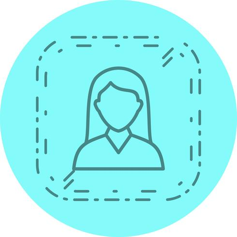 Female Student Icon Design vector