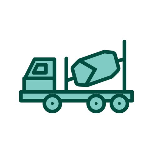 Mezclador de concreto icono de diseño vector
