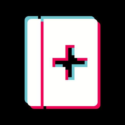Diseño de icono de libro médico