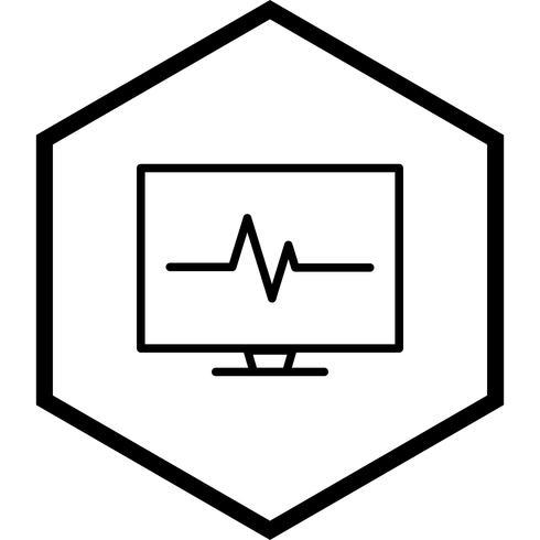 diseño de icono de ecg vector