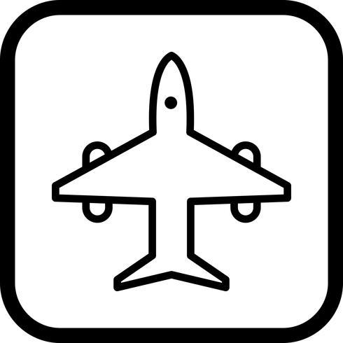Diseño de icono de avión vector