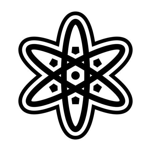 diseño del icono del átomo vector