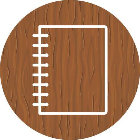 Desenho de ícone de caderno espiral