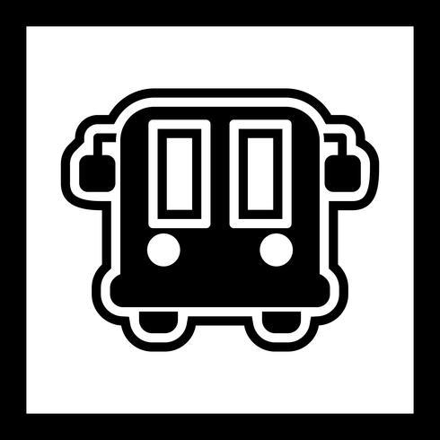 Luchthavenbus pictogram ontwerp