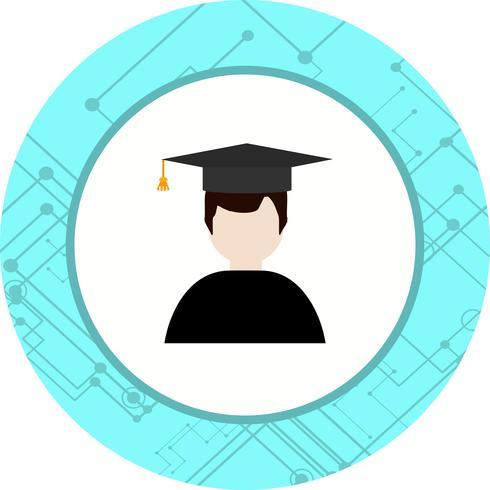 Diseño de icono de estudiante masculino vector