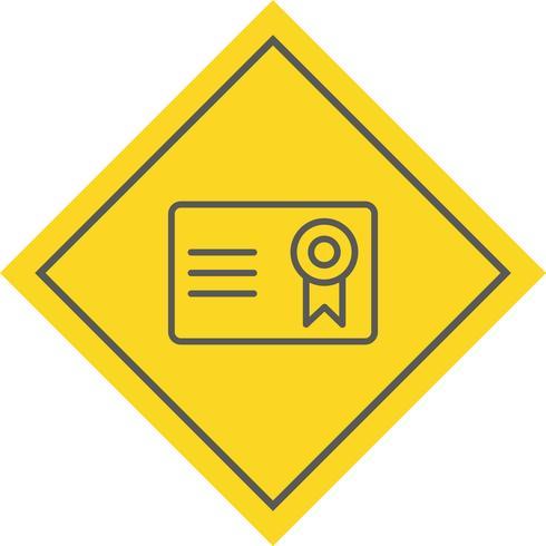 Certificado Icono de Diseño