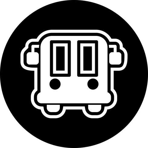 Diseño de ícono de autobús del aeropuerto