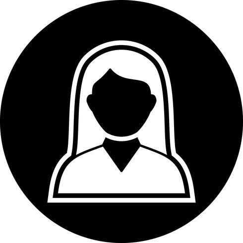 Diseño de icono de estudiante femenina vector