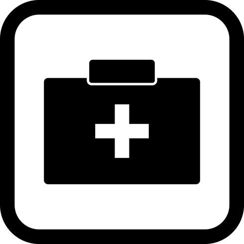 Design de ícone de caixa de primeiros socorros