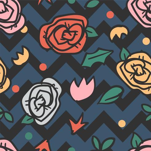 bloem naadloze patroon, bloemmotief