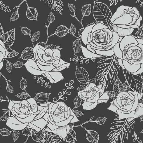 Rose Seamless pattern, flower seamless pattern, vector floral seamless pattern