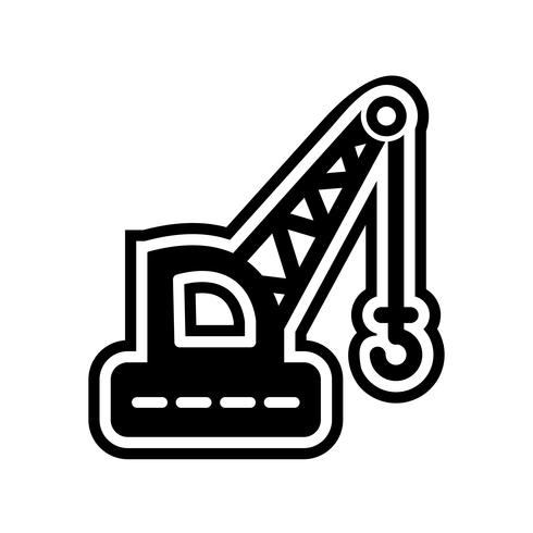 Diseño de icono de grúa