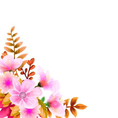 Aquarela do ramalhete, grupo floral do vetor da flor. Coleção floral colorida com folhas e flores, desenho aquarela.
