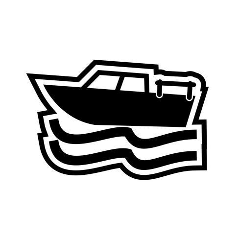 Design de ícone de barco vetor