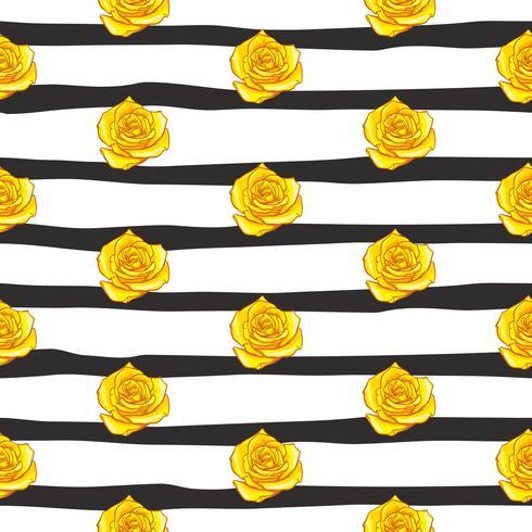 flower rose seamless pattern, vector floral rose seamless pattern, flower background