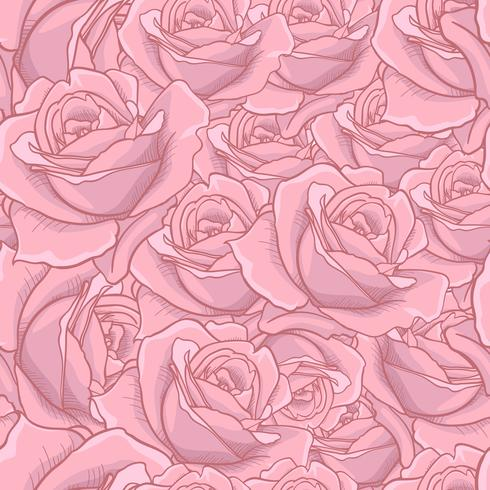 Rose Seamless pattern, flower seamless pattern, vector floral seamless pattern, flower background, rose texture. suitable for printing textile