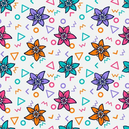 patrón de flores sin fisuras, patrón floral