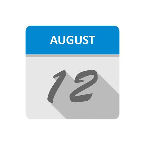12 agosto Data in un calendario per un solo giorno