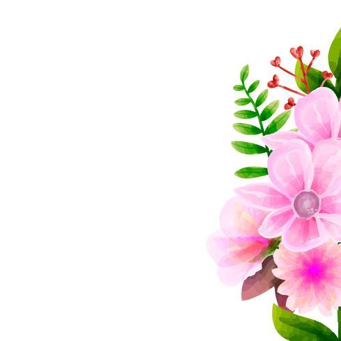 Acuarela del ramo, conjunto floral del vector de la flor.