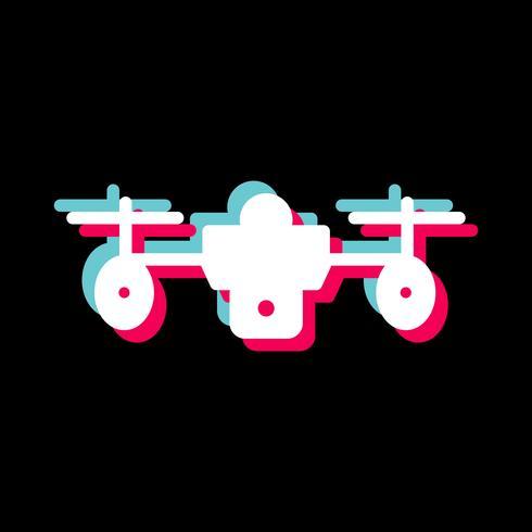 conception d'icône de drone vecteur