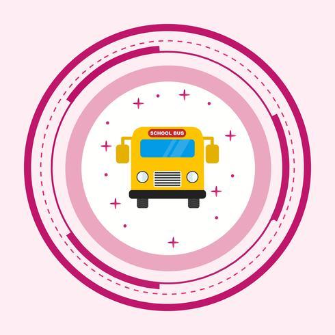 Diseño de iconos de autobuses escolares vector