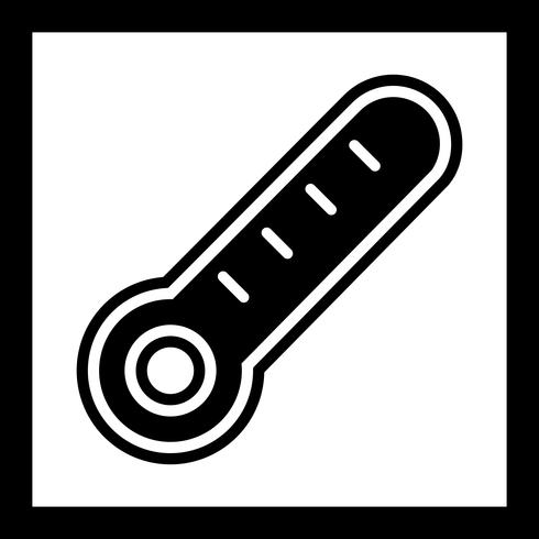 Thermometer pictogram ontwerp