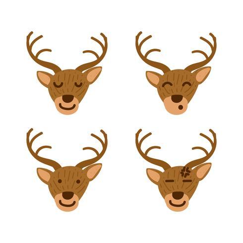 Emoticone De Cerf Ou Emoji Mis En Illustration De Style