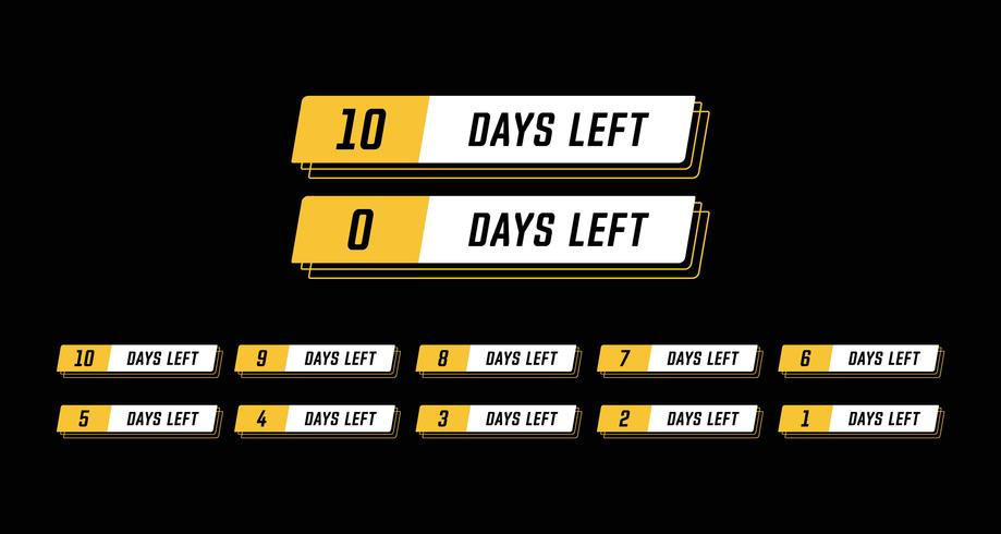 Sport modern horisontell banner sammanlagt antal dagar vänster set design