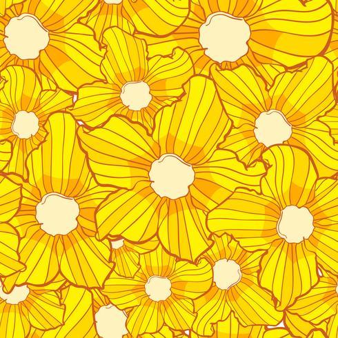 Flor de patrones sin fisuras, textura de fondo de flores, patrón floral sin fisuras