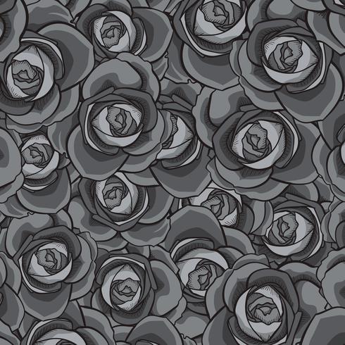 Rosa patrón sin costuras, patrón de flores sin fisuras, vector patrón floral sin fisuras
