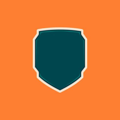 Unieke futuristische tech lege schild badge vormsjabloon