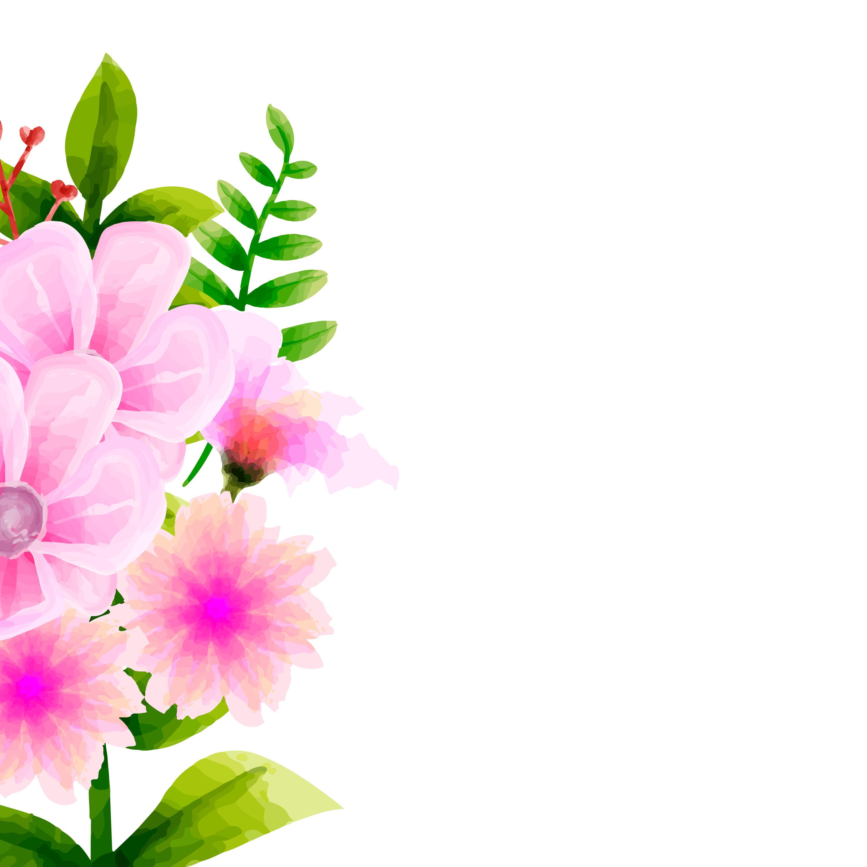 Bouquet Watercolor , Flower Vector Floral Set. Colorful