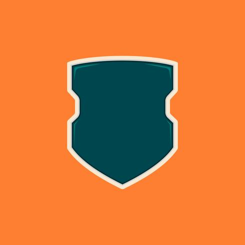 Modello di badge scudo vuoto di poliziotti futuristici
