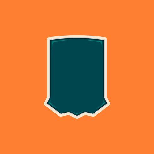 Einzigartige leere Schild-Abzeichenform