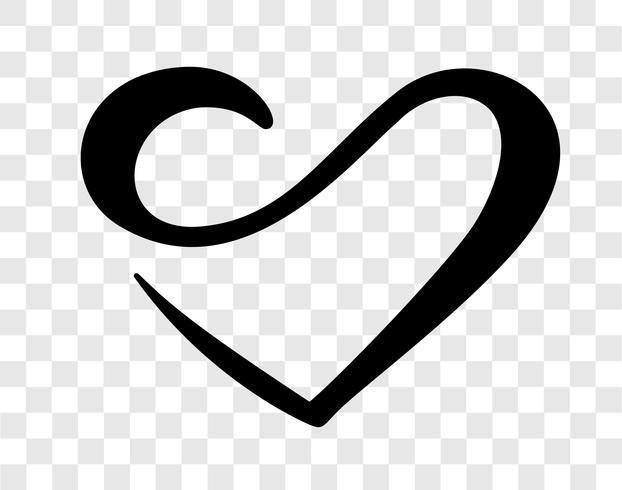 Corazón amor signo para siempre. Logotipo aislado símbolo romántico de la boda del infinito. Ilustración del vector para la camiseta, tarjeta, cartel. Elemento plano de diseño del día de san valentín.