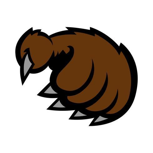 Ilustración de vector de garra de oso Grizzly