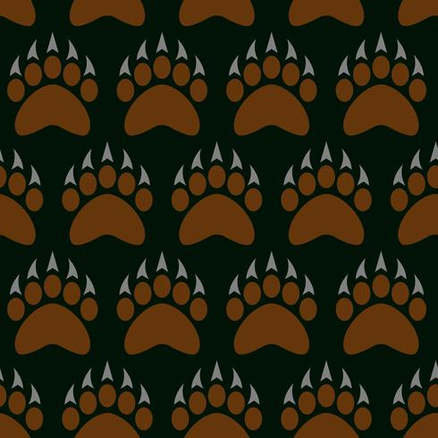 Illustration vectorielle grizzly bear griffe