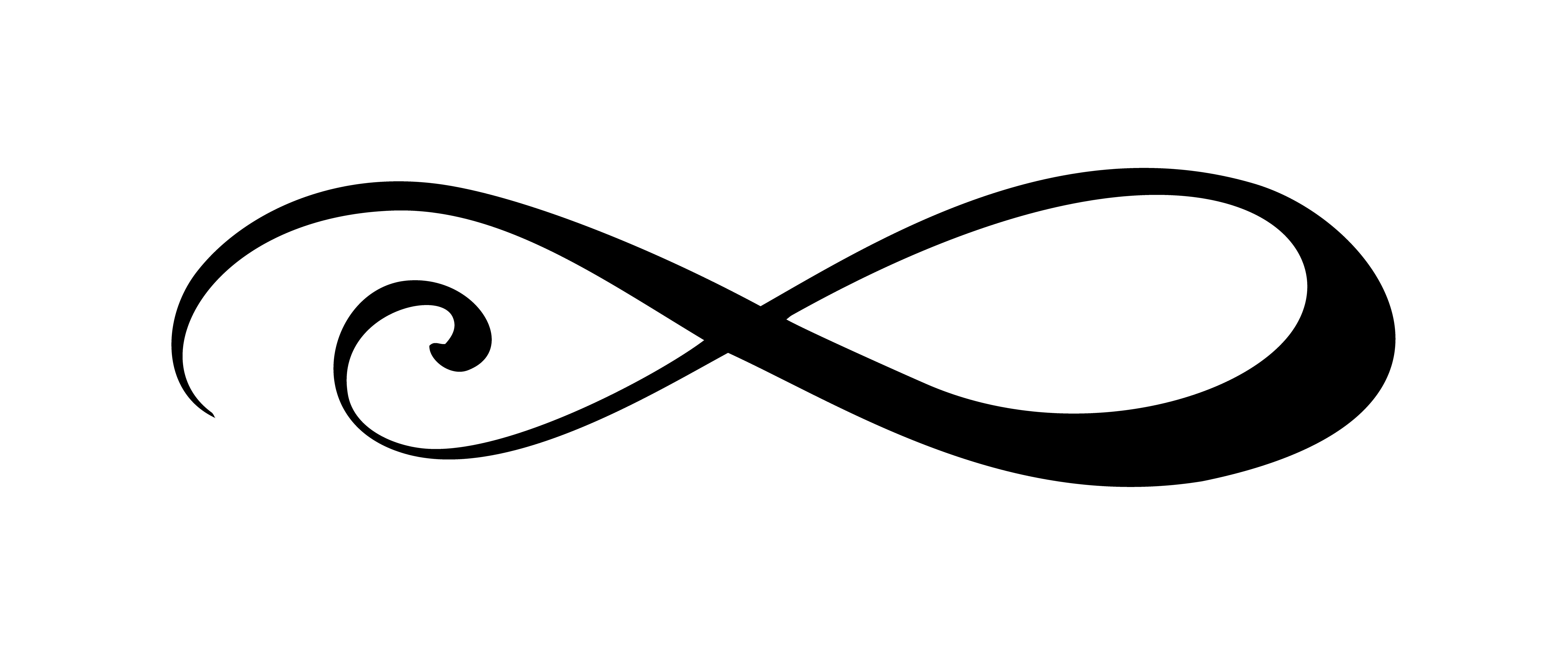 Infinity calligraphy vector illustration symbol. Eternal ...