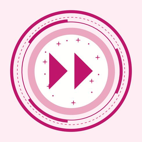 Diseño de icono de flechas hacia adelante