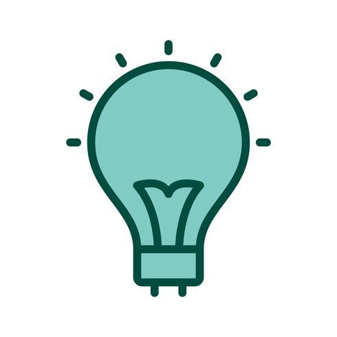 Bulb pictogram ontwerp