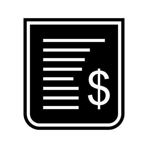 Disegno dell'icona della ricevuta