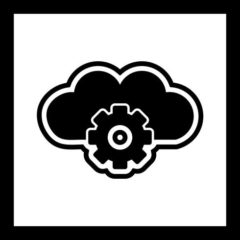 Cloud Settings Icon Design vector